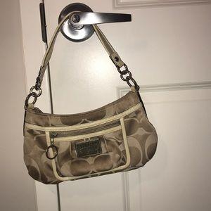 Tan authentic coach purse